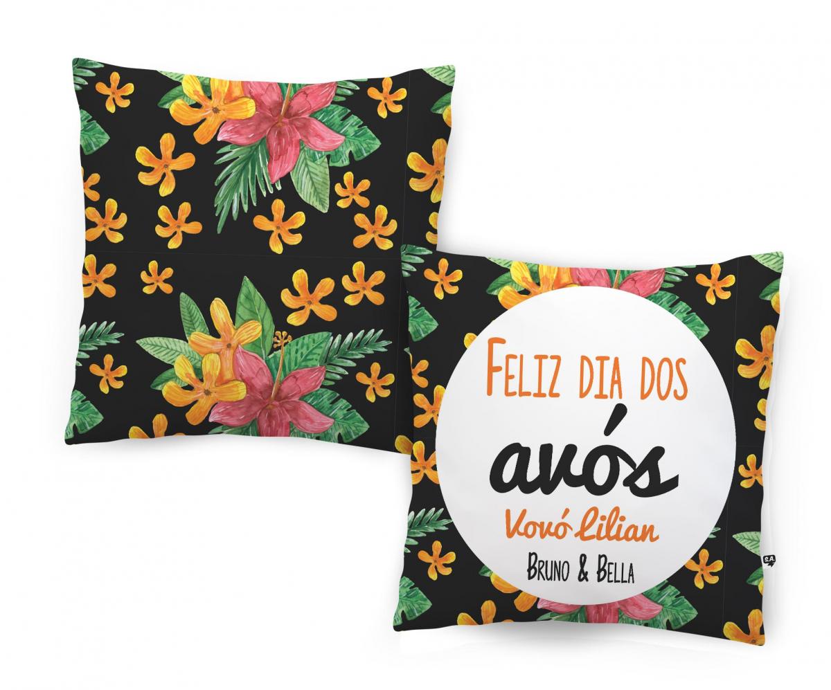 Almofada - Feliz Dia Dos Avós - Floral