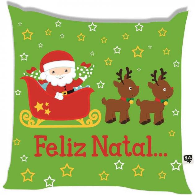 Almofada Feliz Natal Trenó
