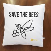 Almofada Mais Bee - Save the Bees -  Branca