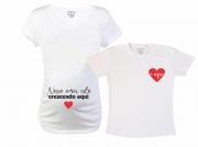 Baby Long e Camiseta - Nosso Amor Está Crescendo Aqui
