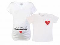 e6aa1dc633 Baby Long e Camiseta - Nosso Amor Está Crescendo Aqui