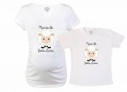 Baby Long e Camiseta - Ovelha