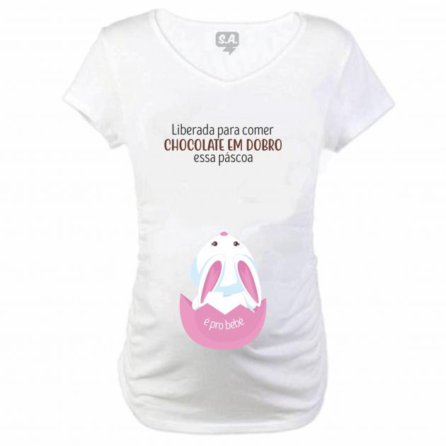 Baby Long  Gestante Liberada para comer chocolate é para o bebê