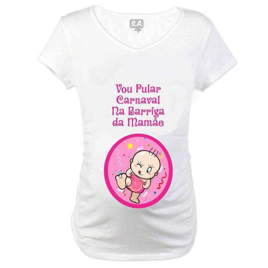 Baby Long  Gestante  Vou Pular Carnaval na Barriga da Mamãe Menina