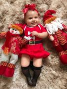 Body Natal Mamãe Noel com Saia 100% algodão