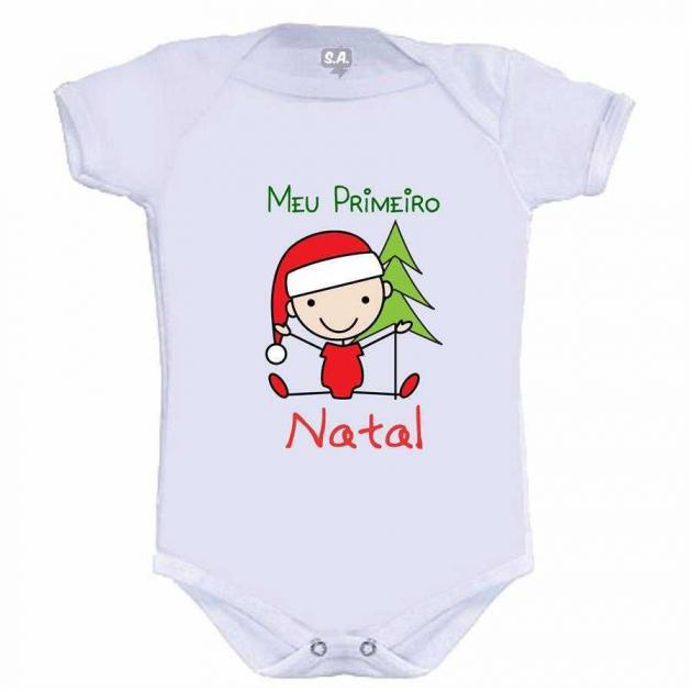 Body Divertido Meu Primeiro Natal Menino