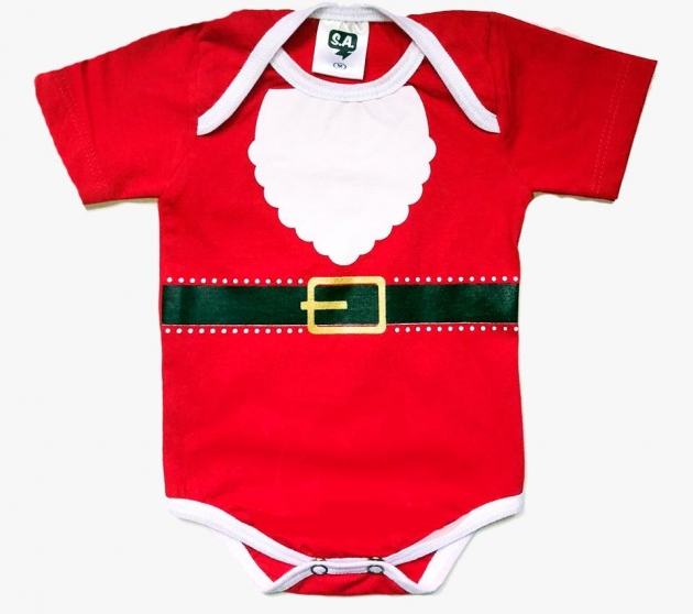 Body Natal Papai Noel 100% algodão