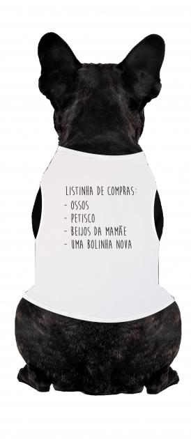 Body Para Cachorro Listinha De Compras