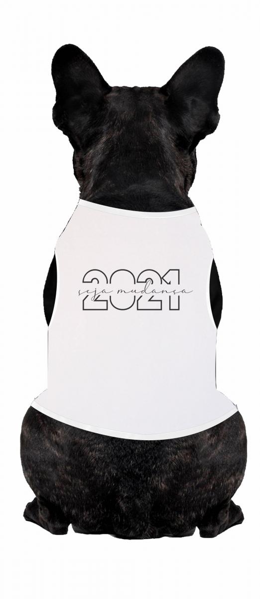 Body Para Cachorro Temático Ano Novo - Seja Mudança