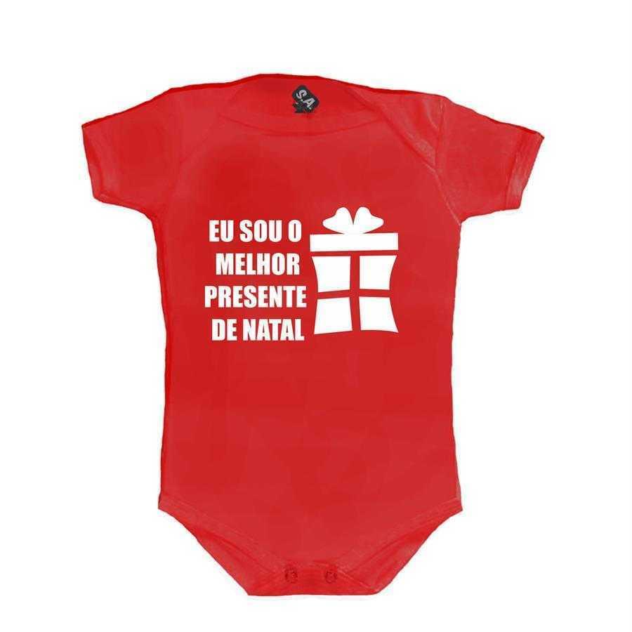 52fb384e35e954 Body Vermelho - Eu sou o melhor presente de Natal