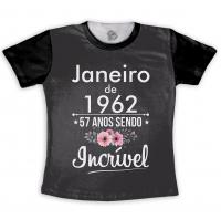 Camiseta 57 Anos Sendo Incrível