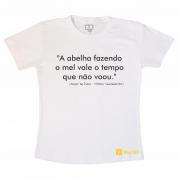 Camiseta Abelha Fazendo Mel - Branca