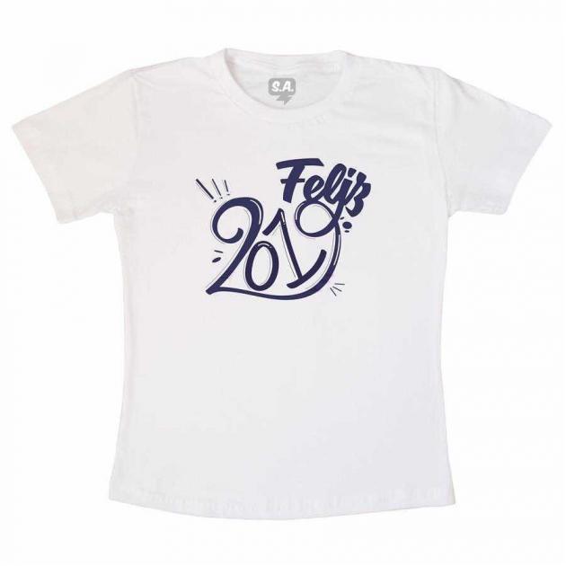 Camiseta Adulta Feliz 2019