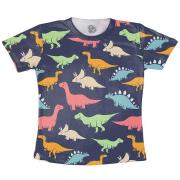 Camiseta Adulto Dinossauro Coloridos