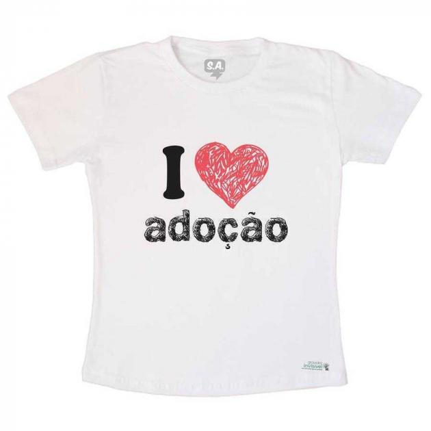 Camiseta Adulto I Love Adoção