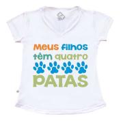 Camiseta Adulto - Meus filhos têm 4 patas