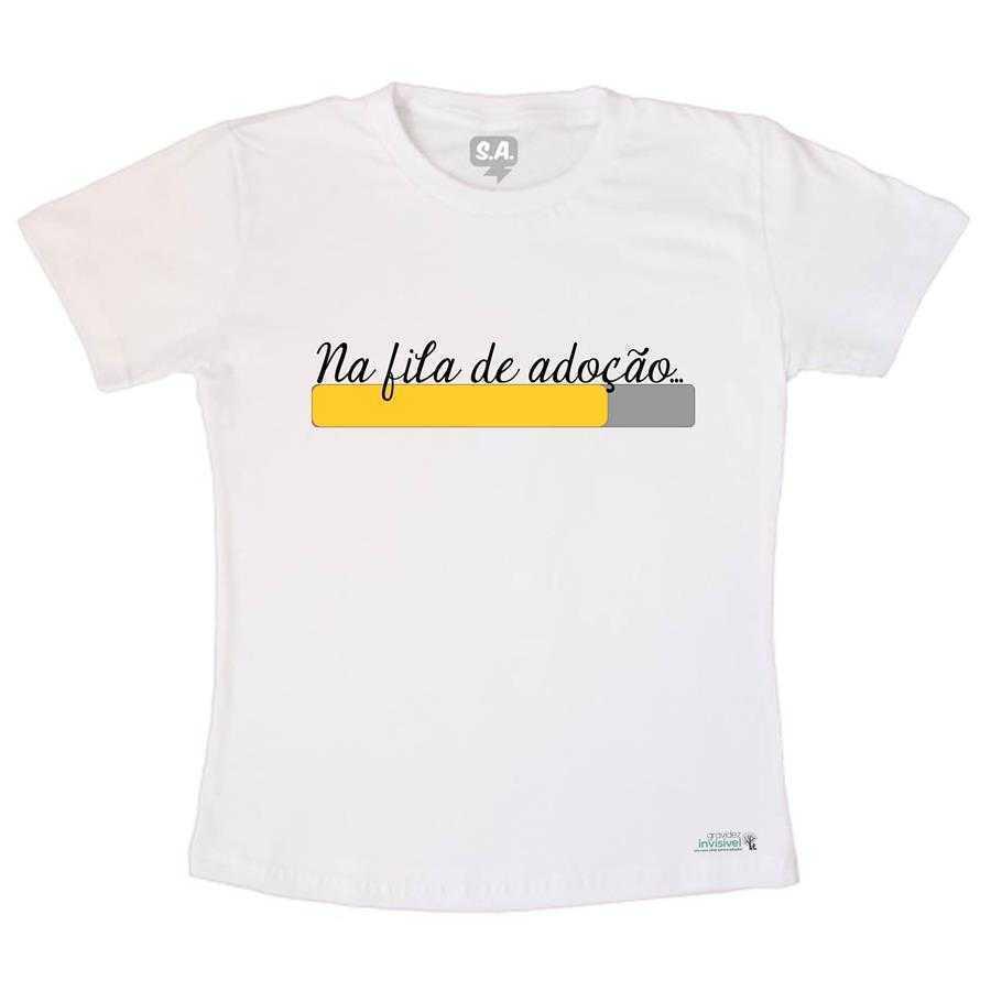 Camiseta Adulto na Fila da Adoção