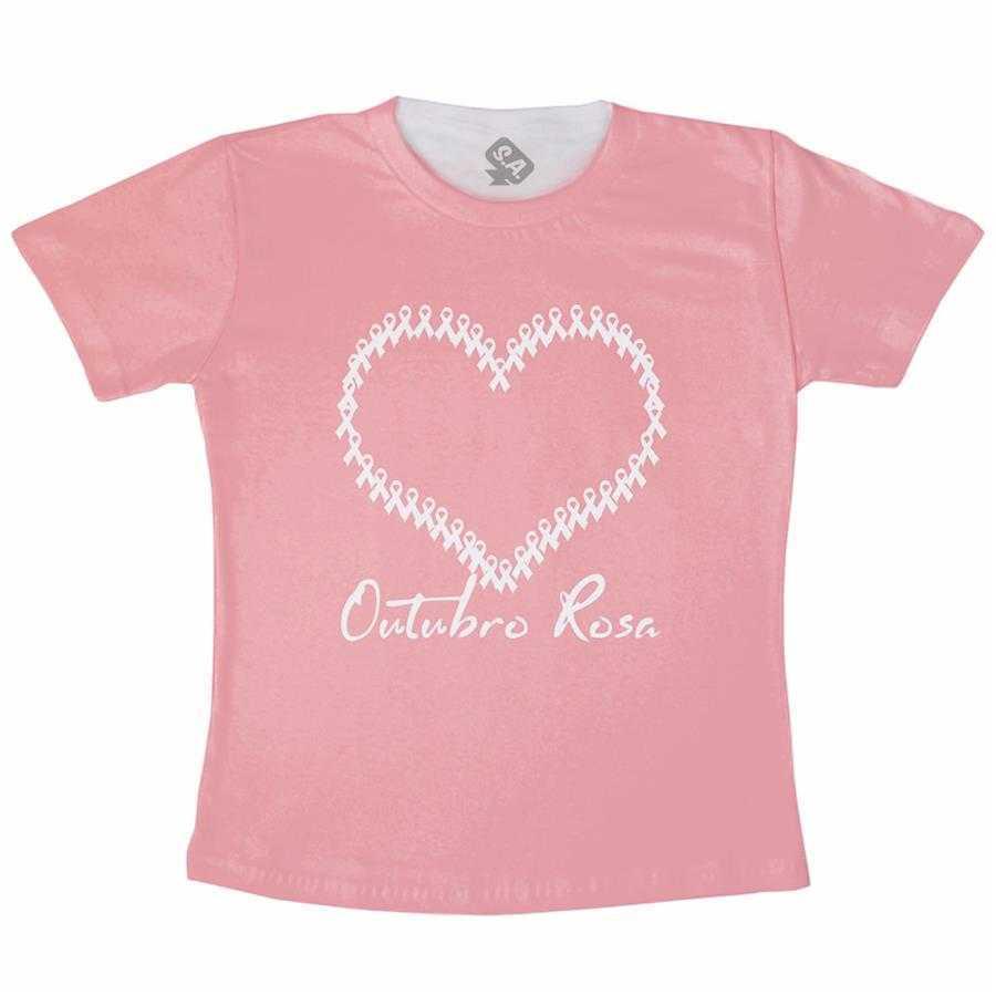 Camiseta Adulto - Outubro Rosa