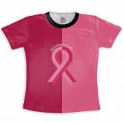 Camiseta Adulto Outubro Rosa Laço