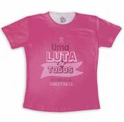 Camiseta Adulto Para Empresa Outubro Rosa Uma Luta De Todos