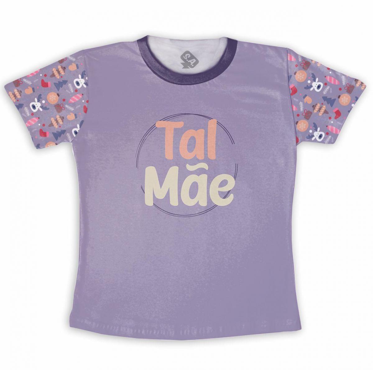 Camiseta Adulto Poliéster Estampa Total Natal  Tal Mãe