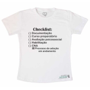 Camiseta Check List Adoção