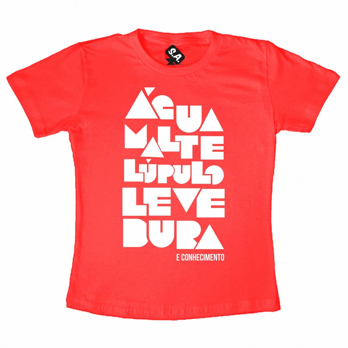 Camiseta Conhecimento - Vermelha
