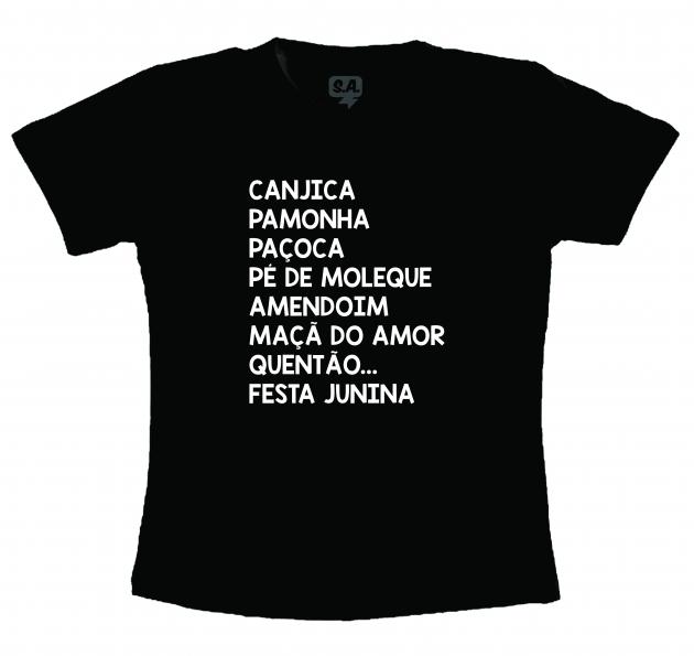Camiseta Festa Junina- Comidas Típicas