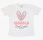 Camiseta Infantil Coelhinha Com Nome