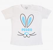 Camiseta Infantil Coelhinho Com Nome