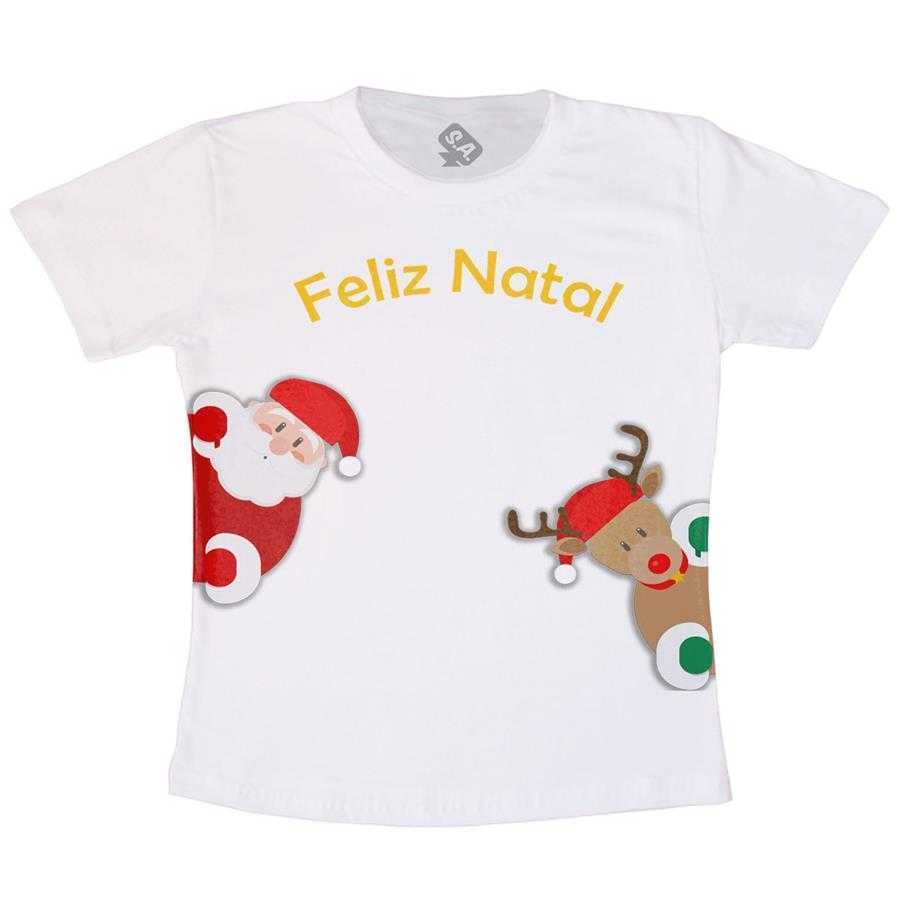 Camiseta Infantil Feliz Natal Na Camiseteria S A