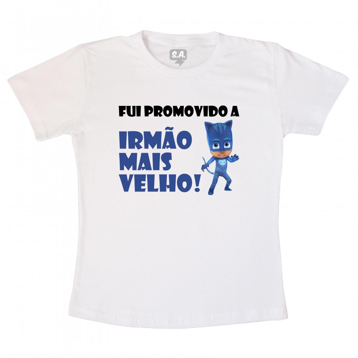 266551771f2b Camiseta Infantil Fui Promovido a Irmão Mais Velho na Camiseteria S.A.