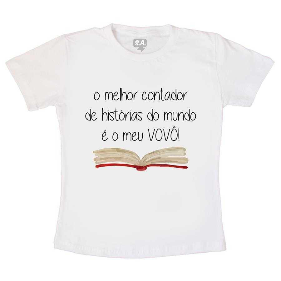 beee64652b7c5 Camiseta Infantil O Melhor Contador De Histórias Vovô na Camiseteria ...