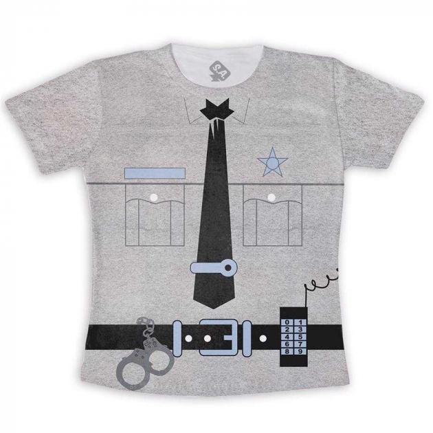 Camiseta Infantil Polícia