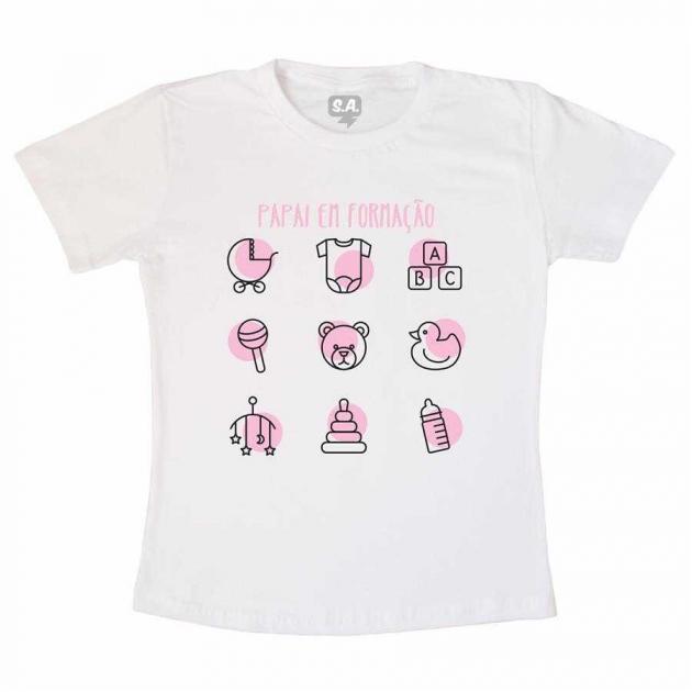 Camiseta Pai de Menina em Formação