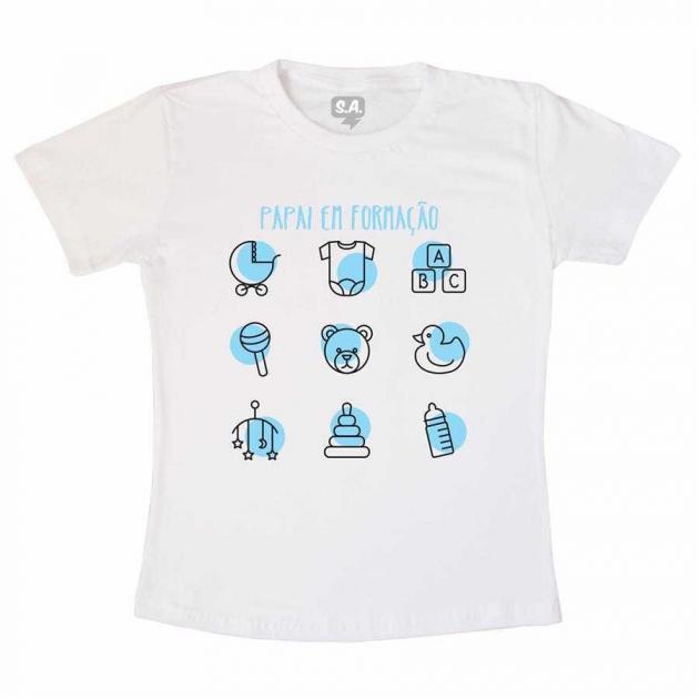 Camiseta Pai de Menino em Formação