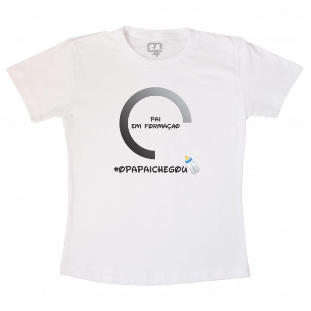 Camiseta Papai Em Formação #OPAPAICHEGOU