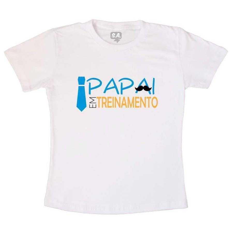 Camiseta Papai em Treinamento na Camiseteria S.A. 00684bcefd1e1