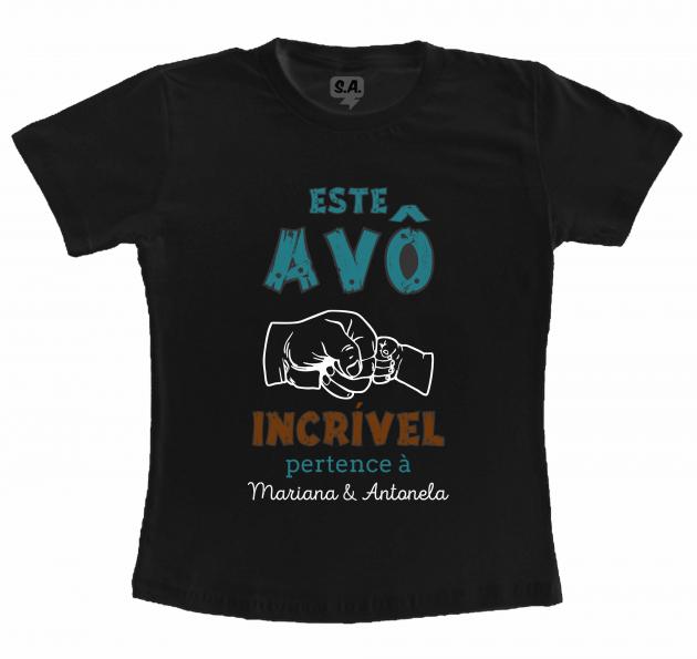 Camiseta Preta Dia dos pais - Avô Incrível
