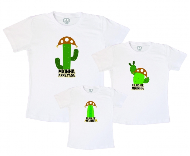 Camisetas Kit Família Arretados