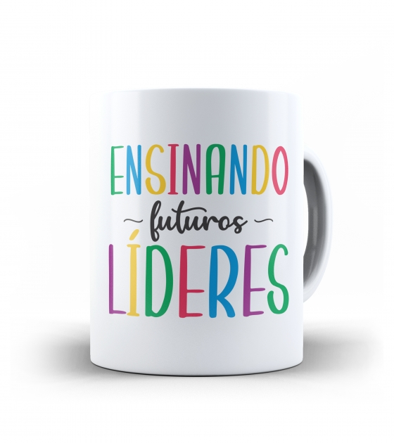 Caneca dia dos Professores - Ensinando futuros Líderes