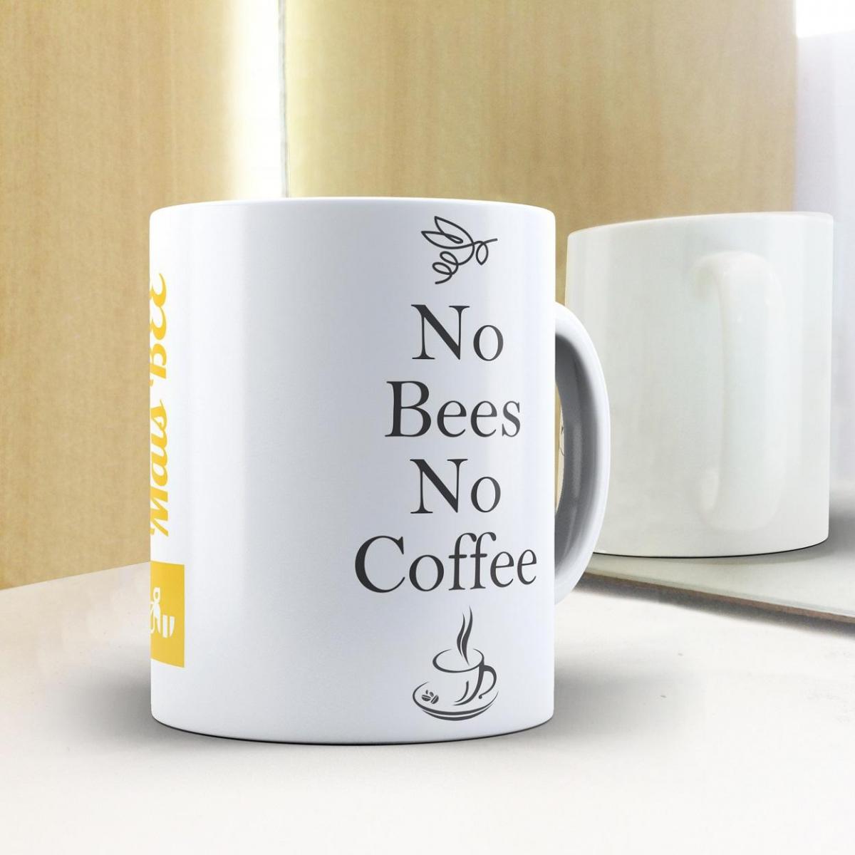 Caneca No Bees No Coffee - Branca