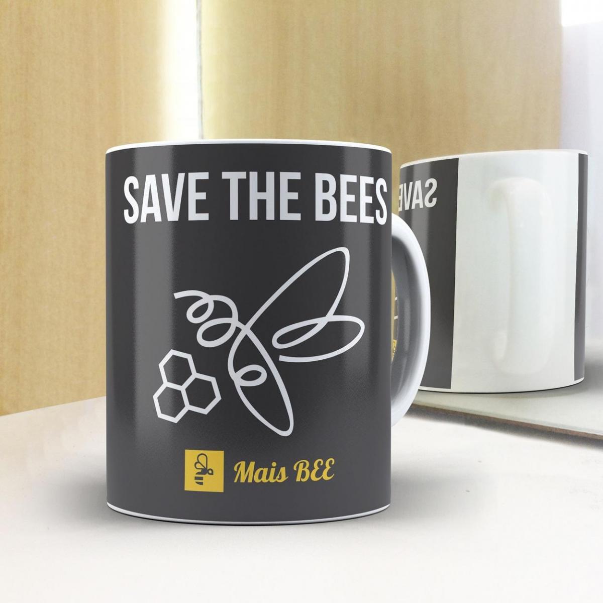 Caneca Save the Bees- Preta