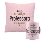 Kit Almofada e Caneca Para a Melhor Professora