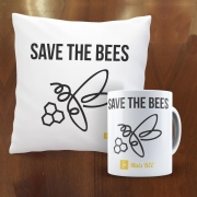 Kit Almofada e Caneca Save The Bees