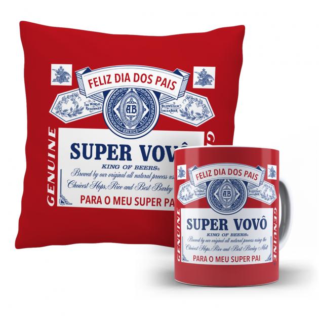Kit Almofada E Caneca -  Super Vovô