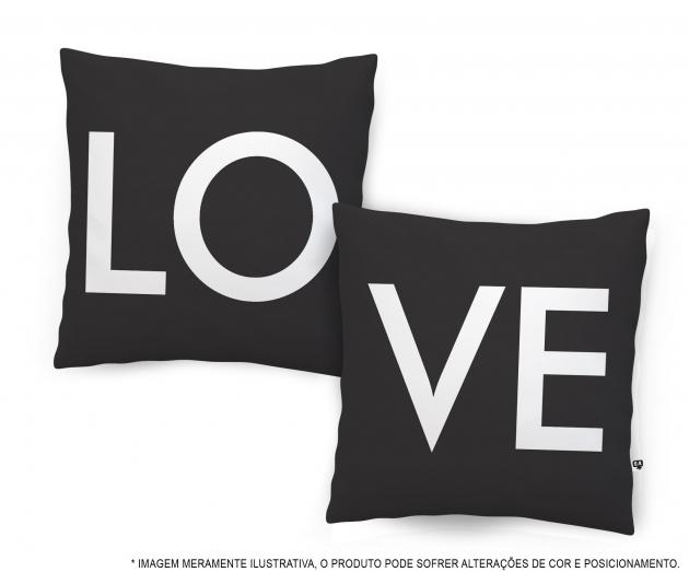 Kit Almofadas Love - Preta
