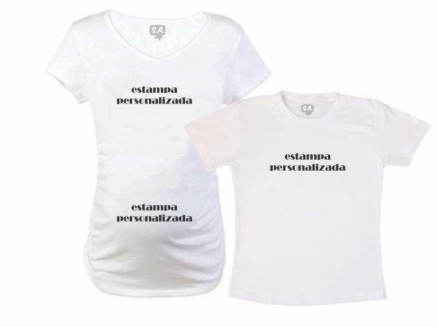 Kit Baby Long e Camiseta Adulta
