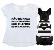 Kit Bata + Body Pet Amor De Um Cachorro