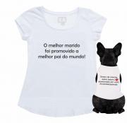 Kit Bata + Body Pet Anunciar Gravidez